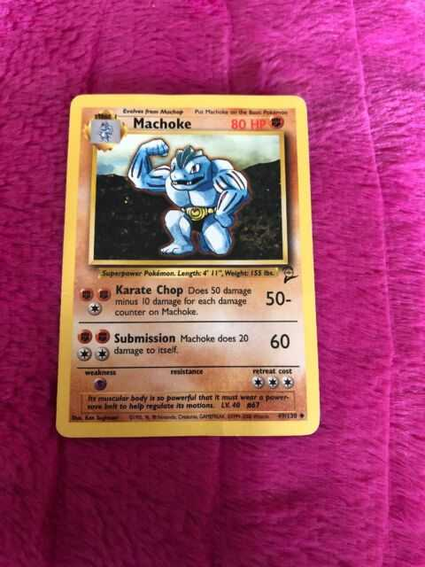 1995 machoke pokemon card ebay