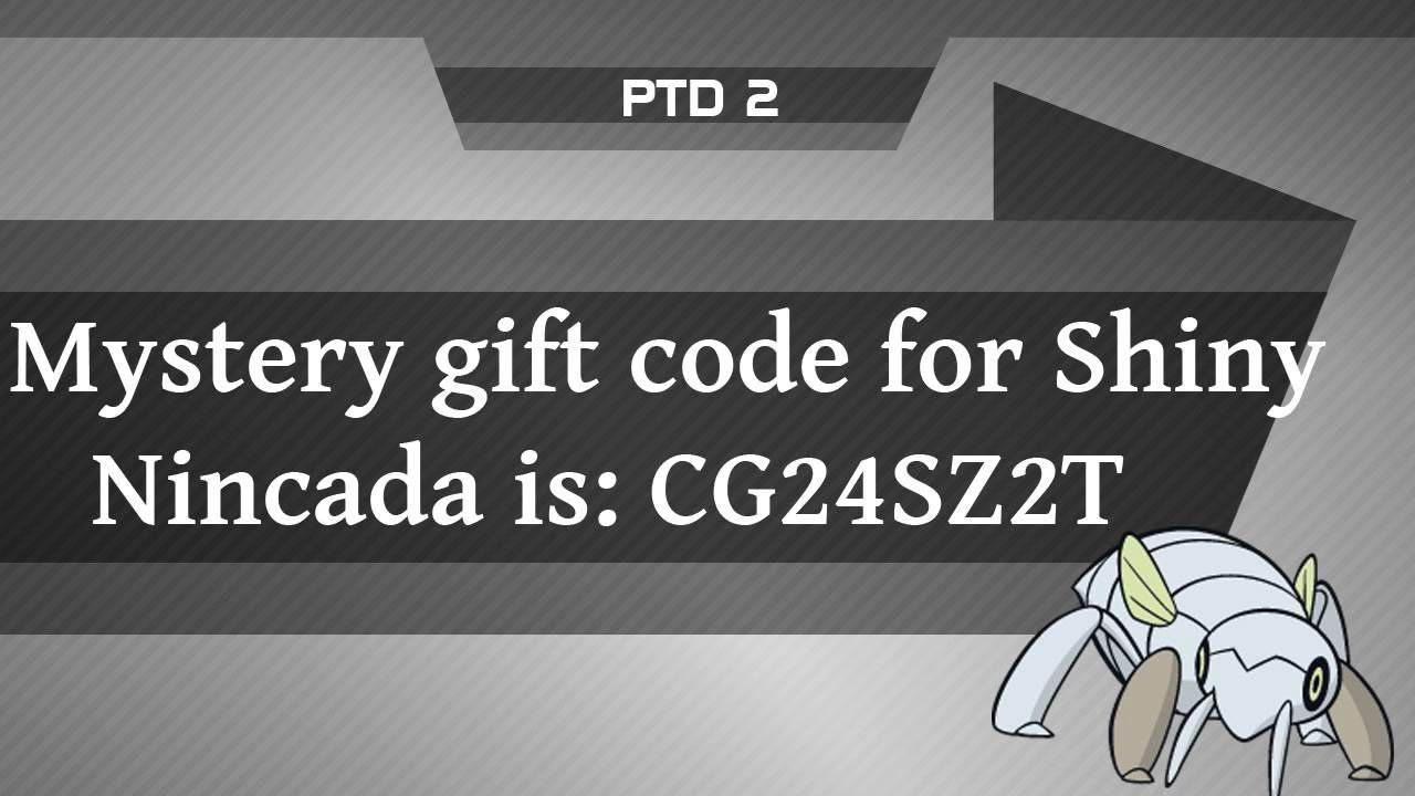 Codes for mystery gifts in pokemon x