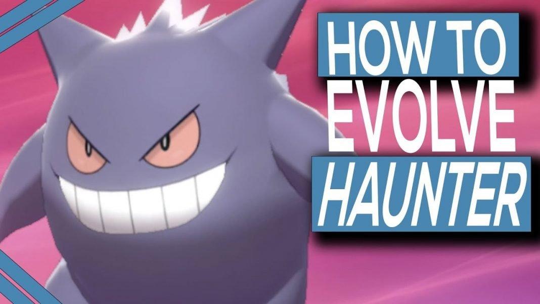 how to evolve haunter into gengar in pokemon sword