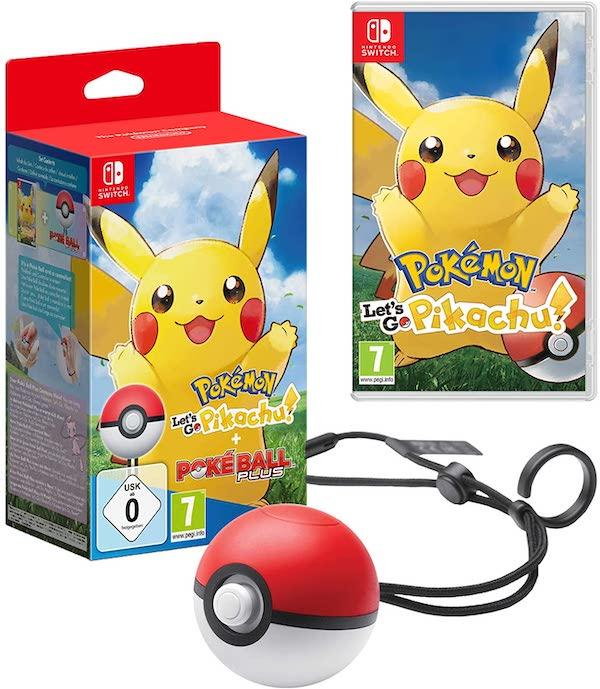 juego pokemon lets go pikachu pokeball plus para