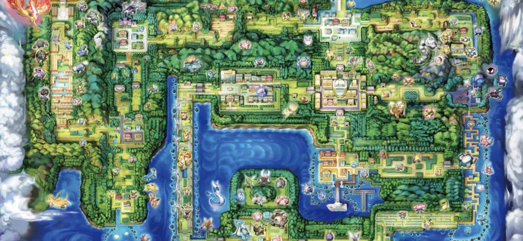 kanto map of lets go pikachu evee pokemon