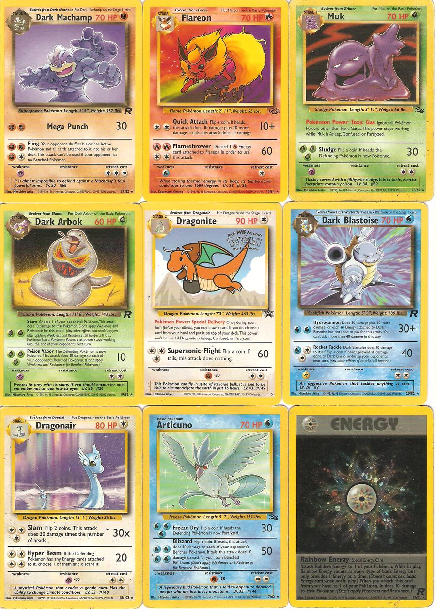 My rare Old Pokemon cards by Rainbowpawsthecutie on DeviantArt
