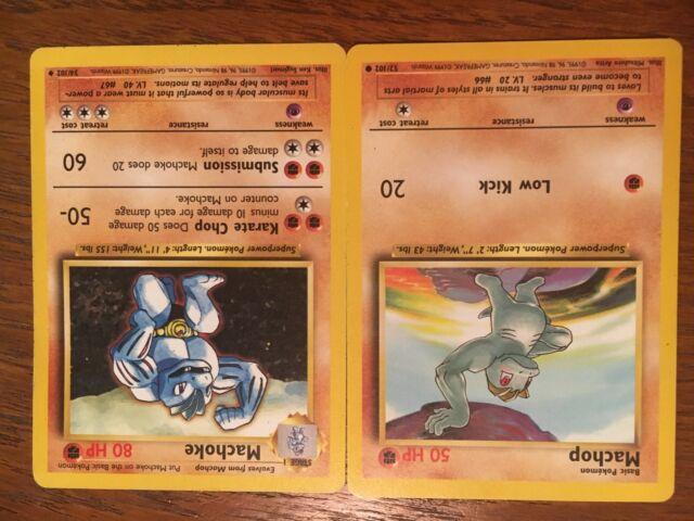 Original 1995 Machomp/Machoke Pokemon card combo excellent ...
