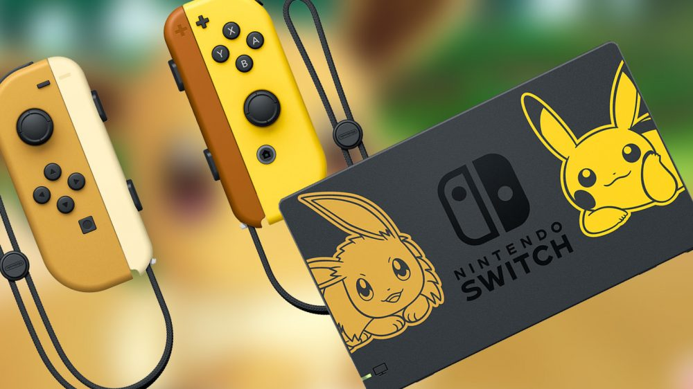 pikachu and eevee switch dock and joy con to be sold