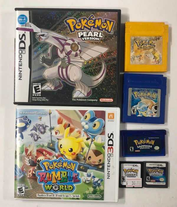 Pokemon Games for DS / Gameboy Advance GBA