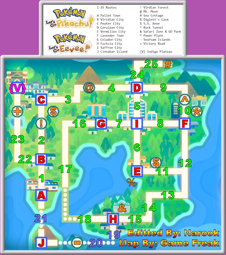 Pokemon Lets Go Pikachu Rock Tunnel Map