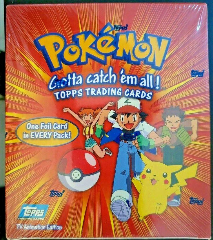 Pokemon TOPPS SERIES 1 sealed BOOSTER BOX TV Animation ...