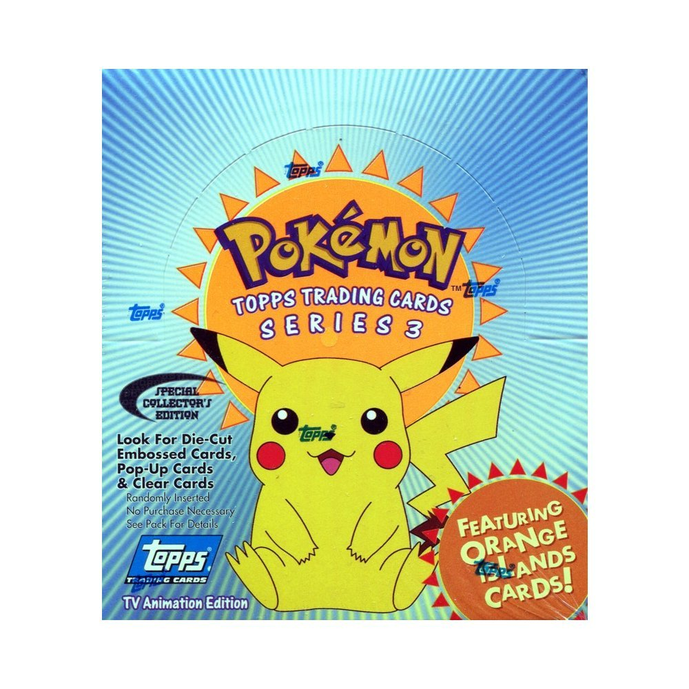 topps pokemon series 3 trading cards tv animation edition