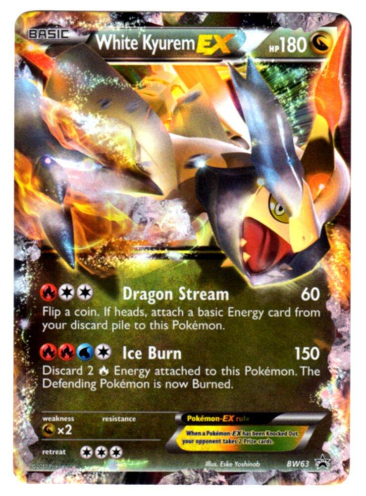 White Kyurem EX Ultra Rare Holo Legendary Pokemon Card ...